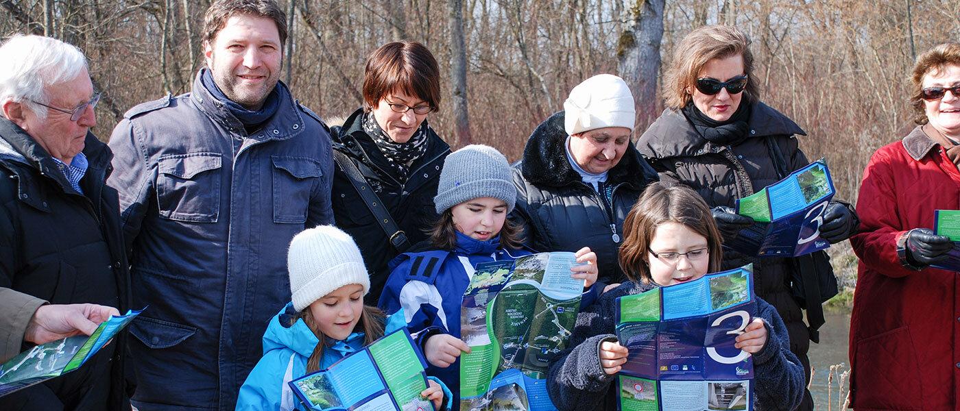 Familienführungen im Auwald