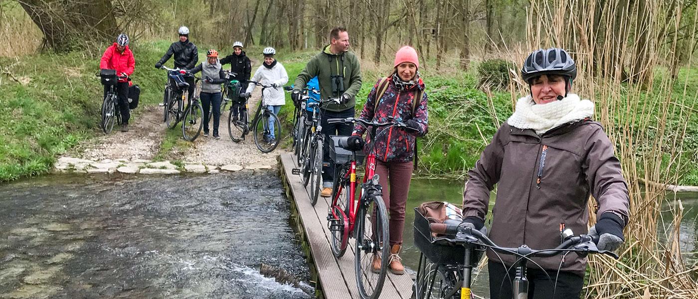 Fahrradtouren rund um den Auwald